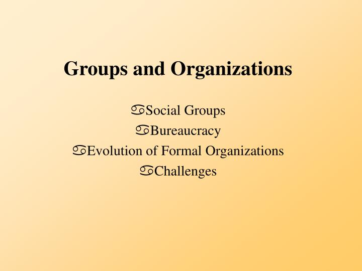 Groups and organizations l.jpg
