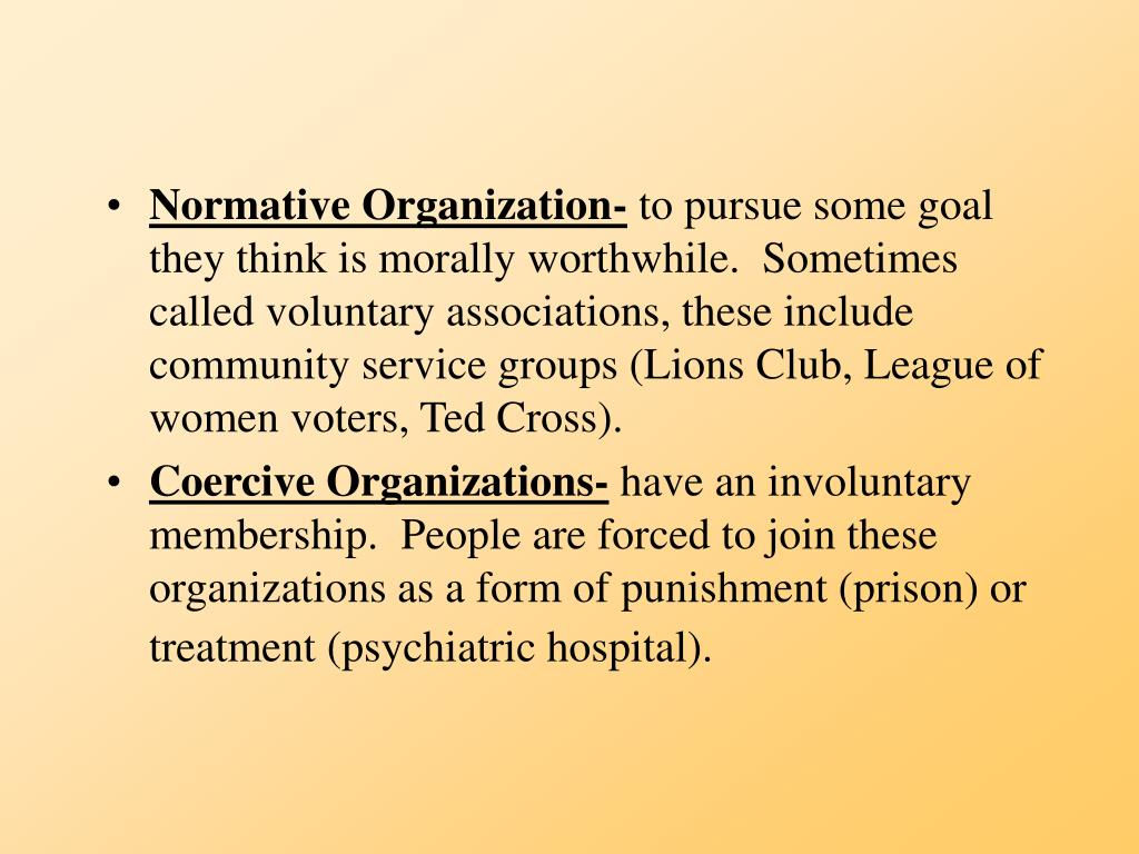 Normative Organization-