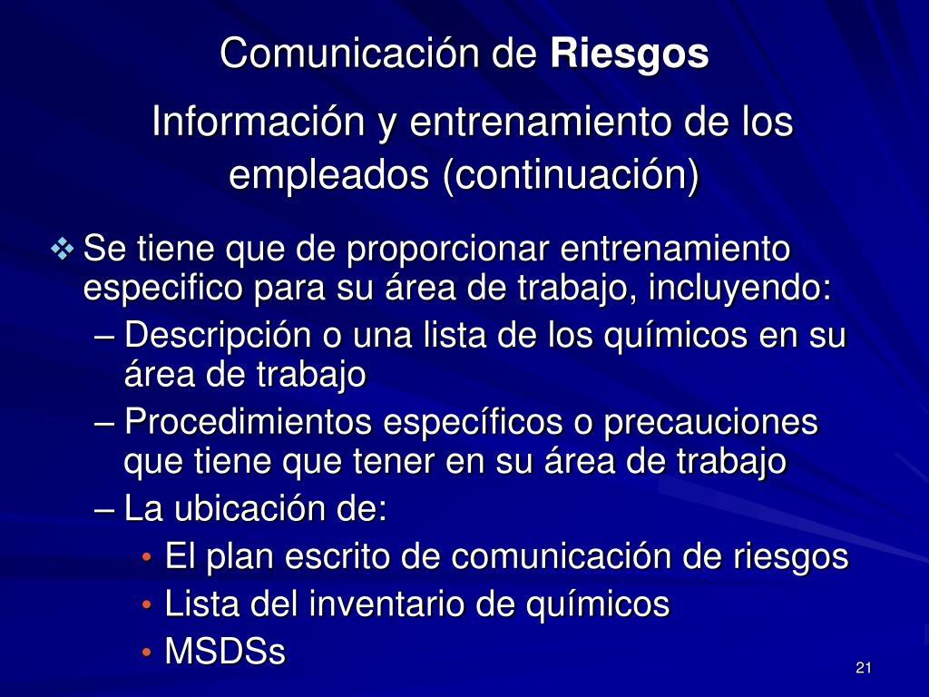 Comunicación de