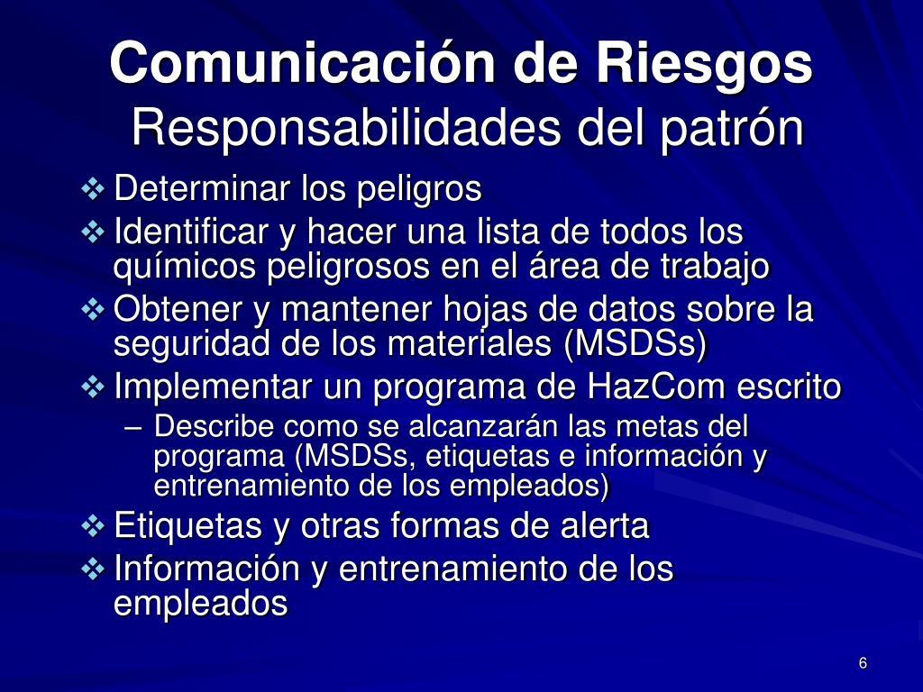 Comunicación de Riesgos