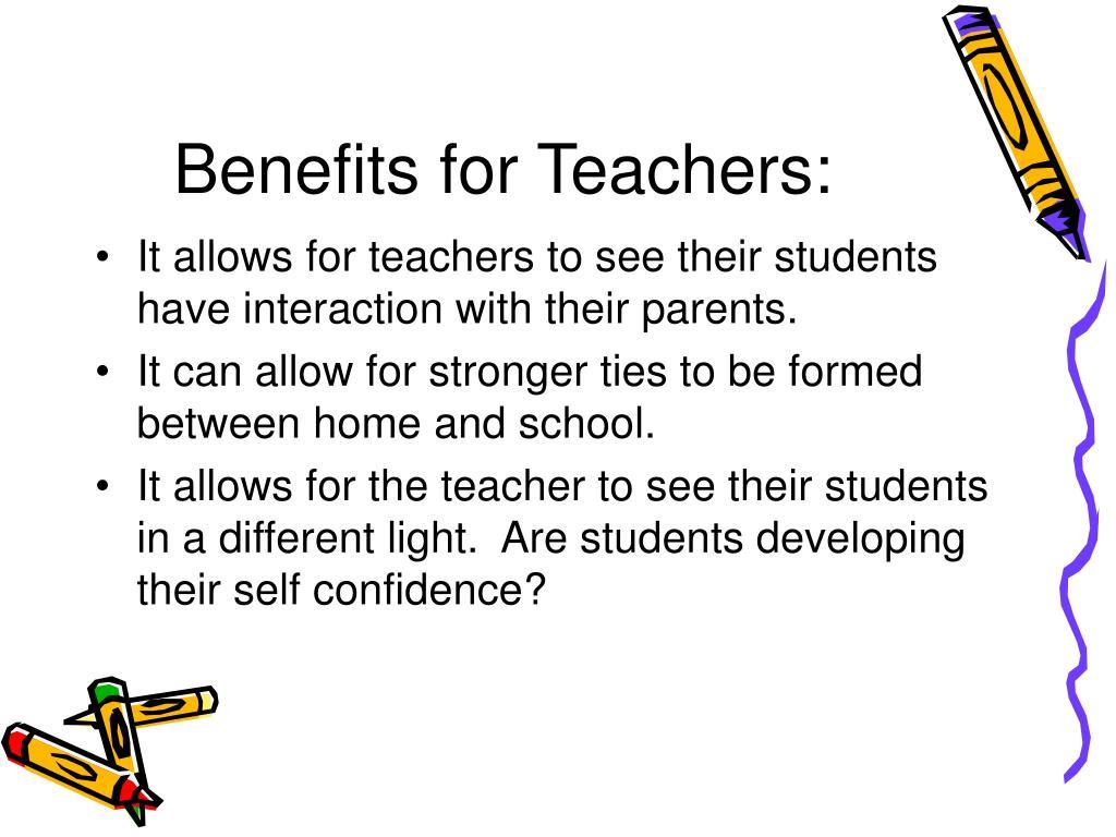 Benefits for Teachers: