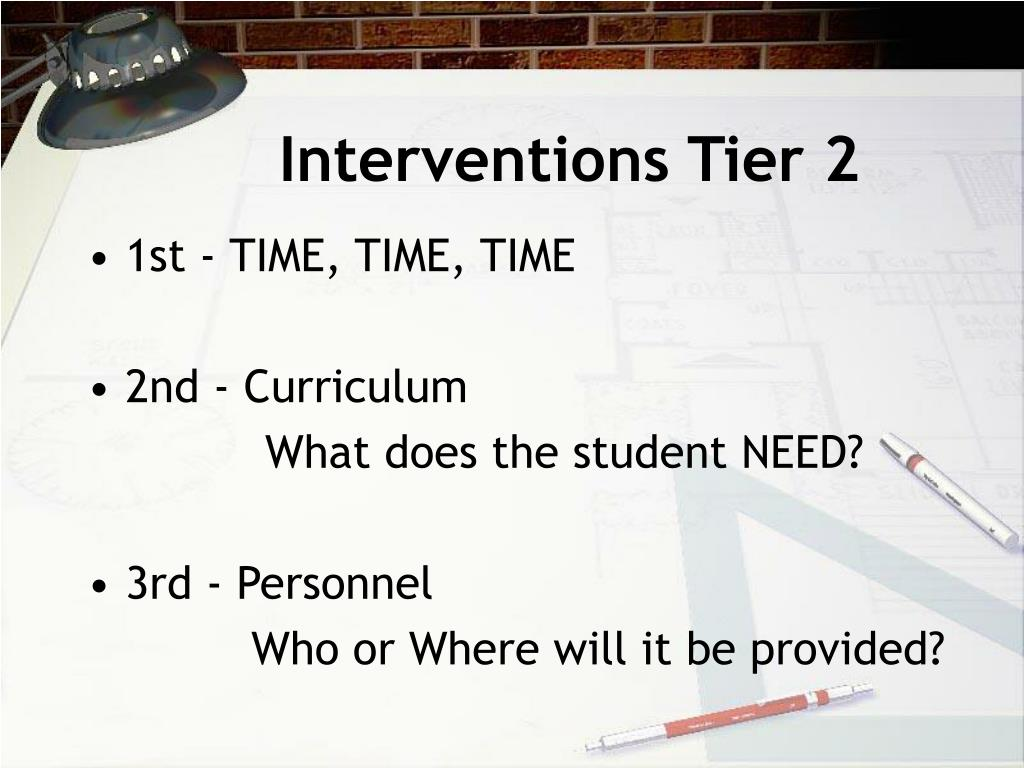 Interventions Tier 2
