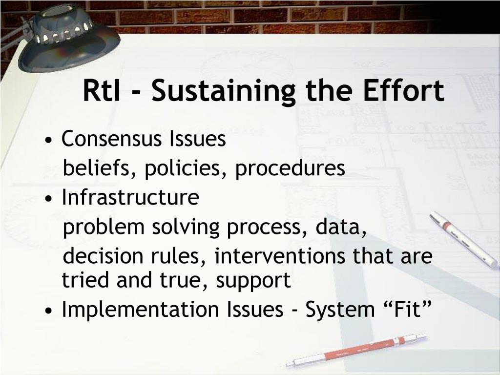 RtI - Sustaining the Effort