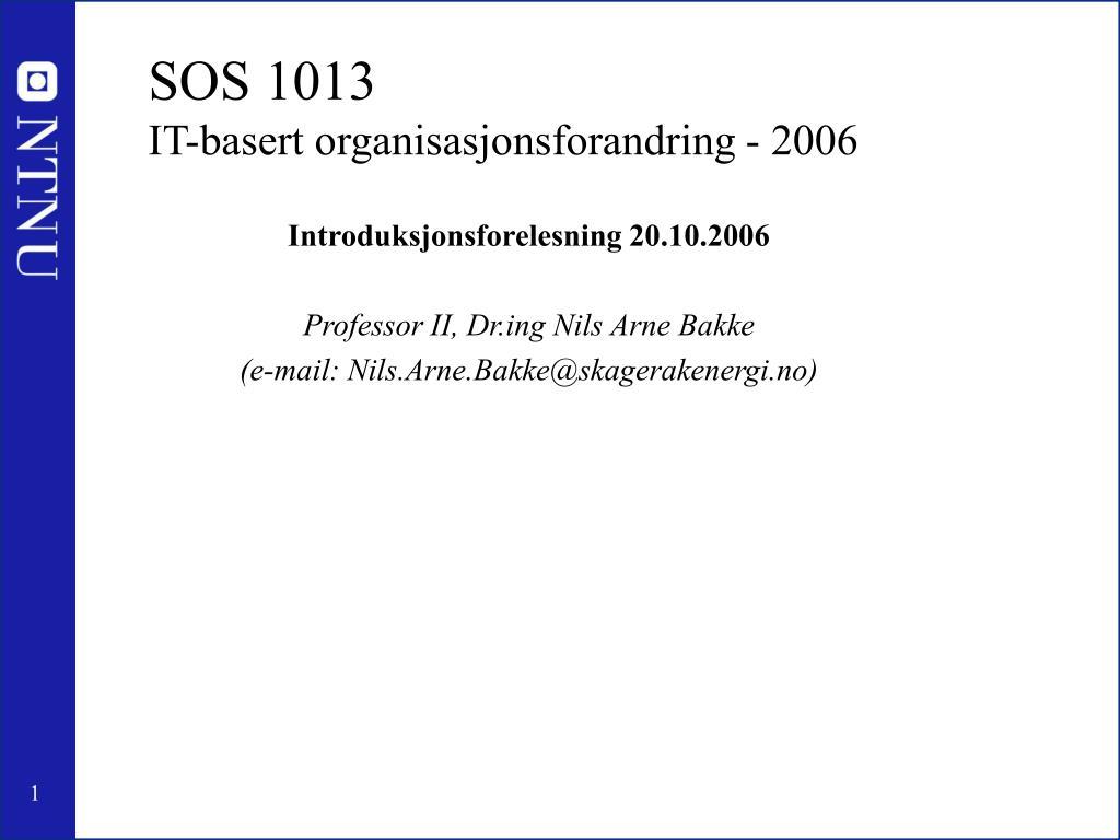 SOS 1013