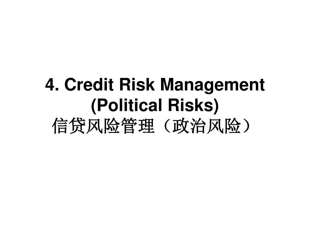 4. Credit Risk Management