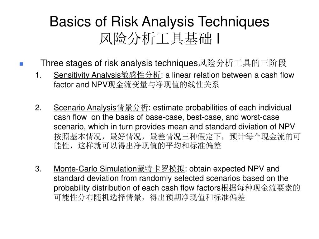 Basics of Risk Analysis Techniques