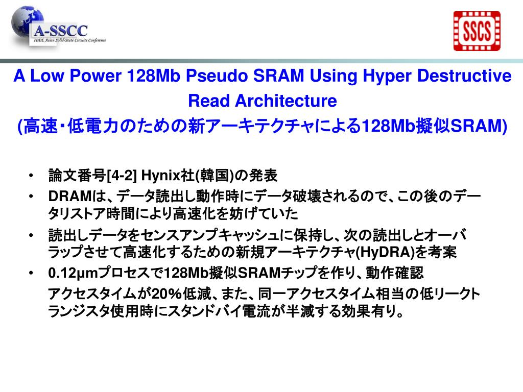 A Low Power 128Mb Pseudo SRAM Using Hyper Destructive Read Architecture