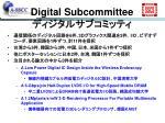 digital subcommittee