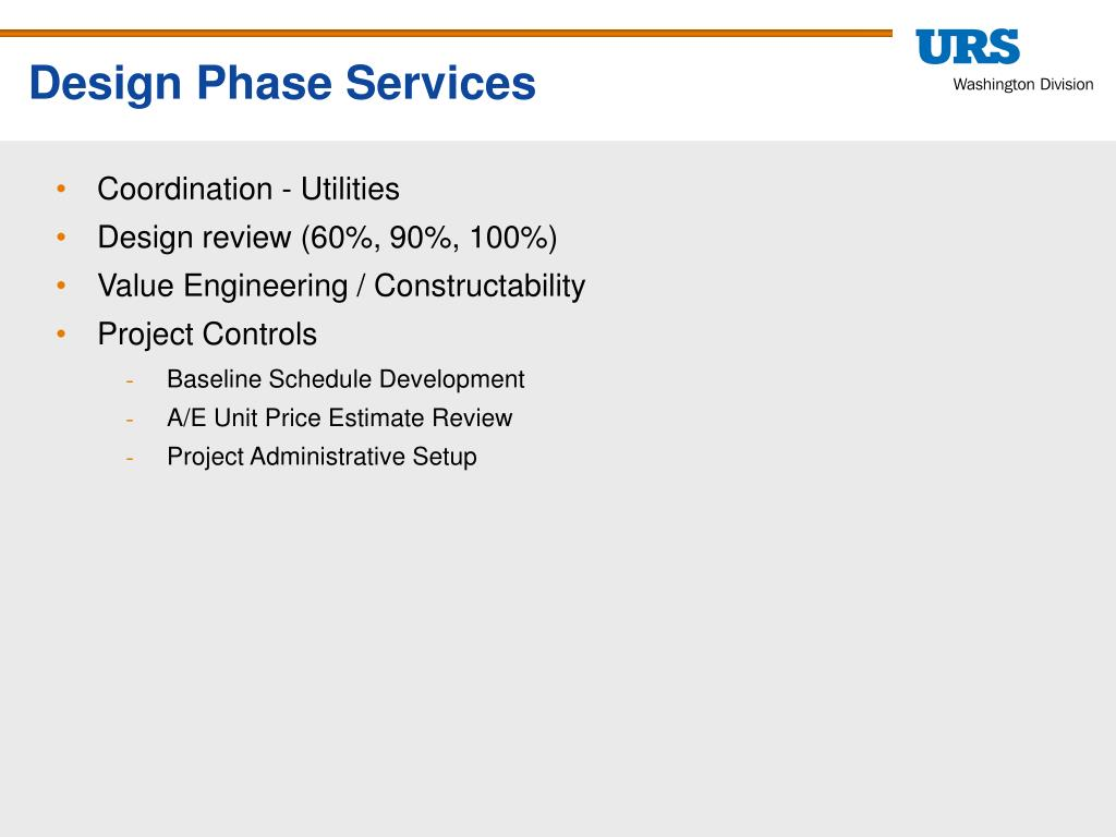 Design Phase Services