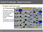 initial findings opportunities