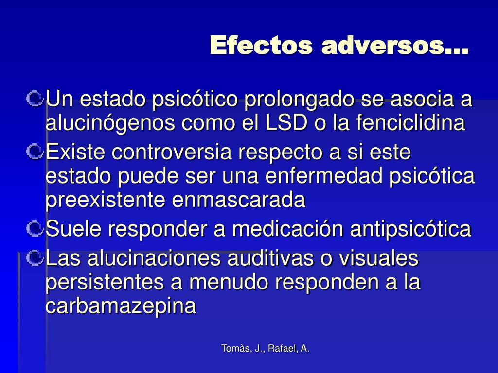 Efectos adversos…