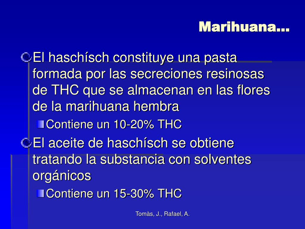 Marihuana…