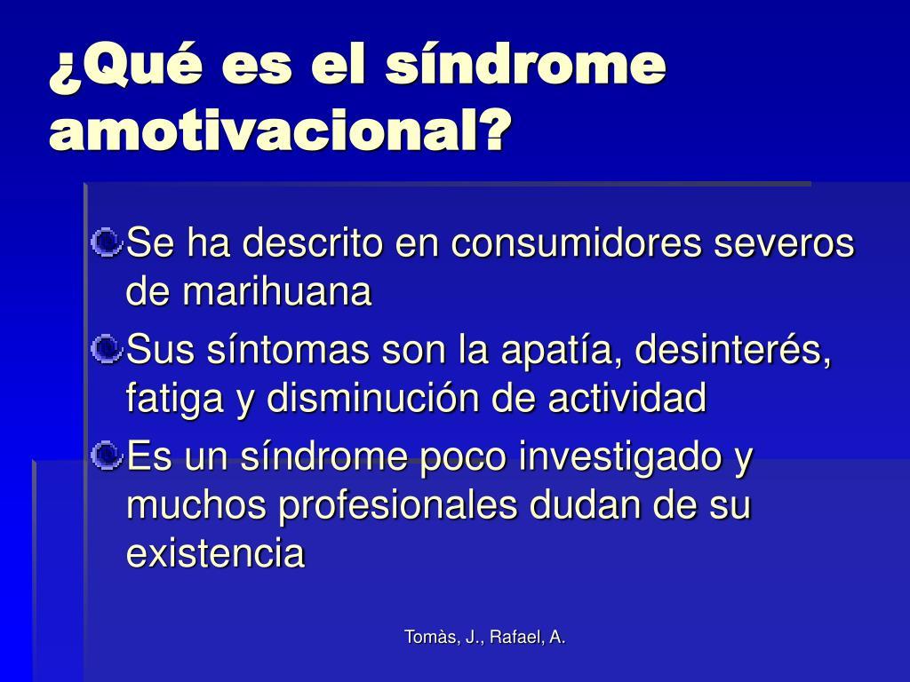¿Qué es el síndrome amotivacional?