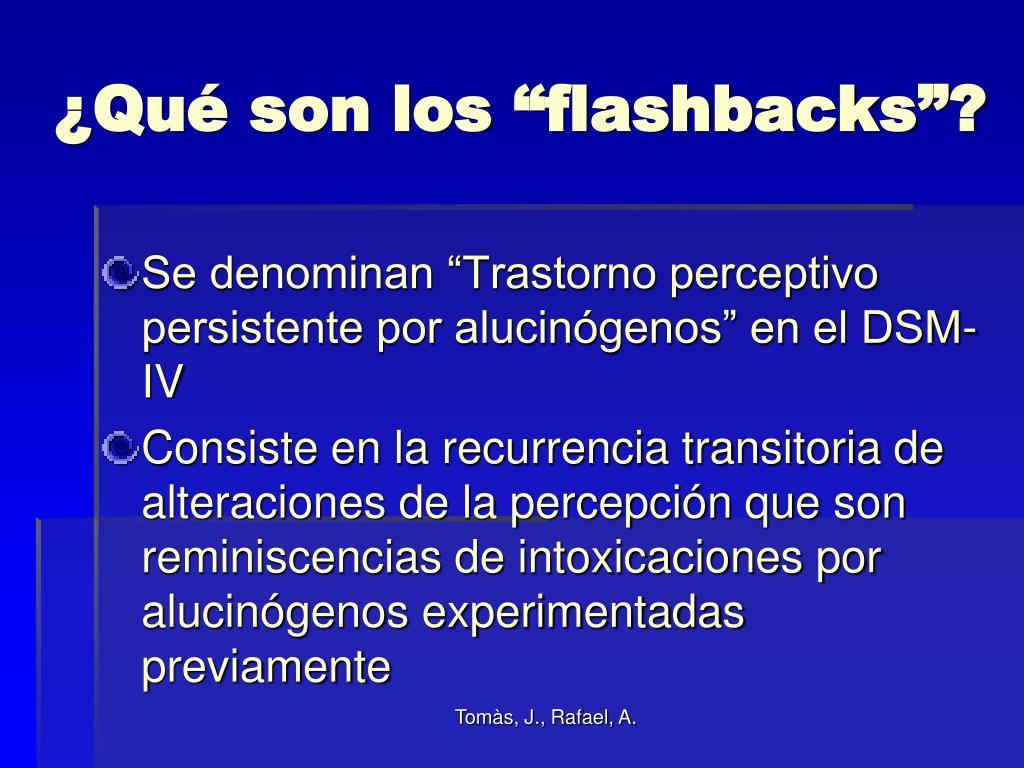 """¿Qué son los """"flashbacks""""?"""