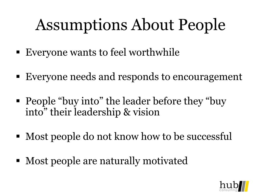 Assumptions About People