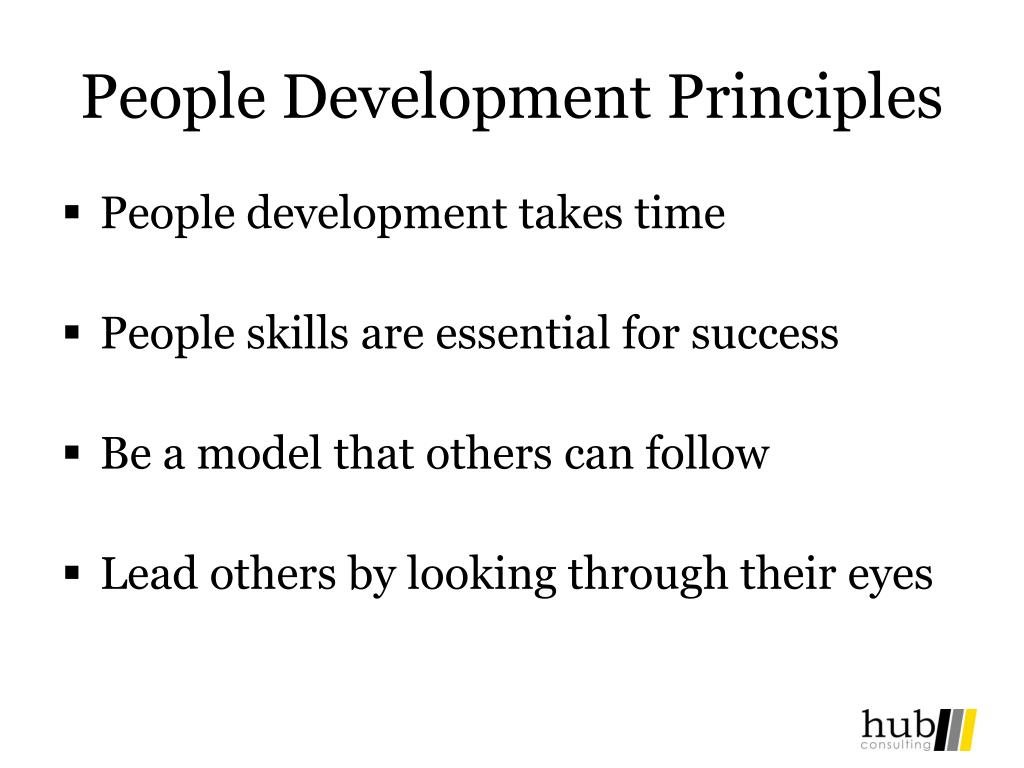 People Development Principles