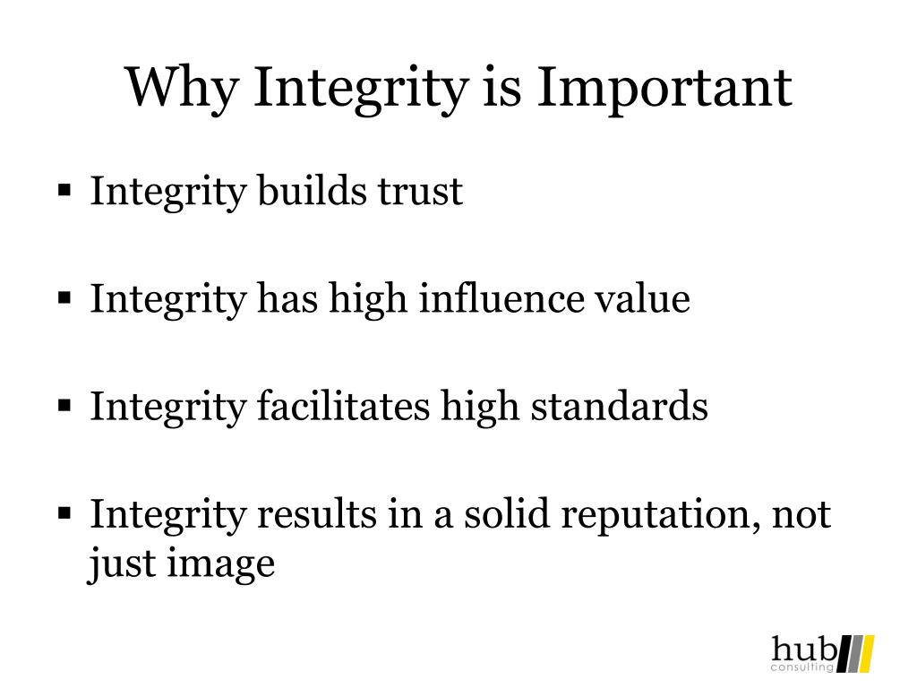 Why Integrity is Important