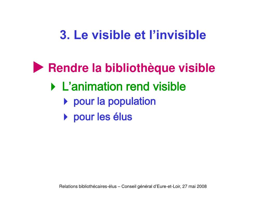 3. Le visible et l'invisible