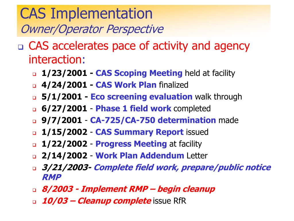 CAS Implementation