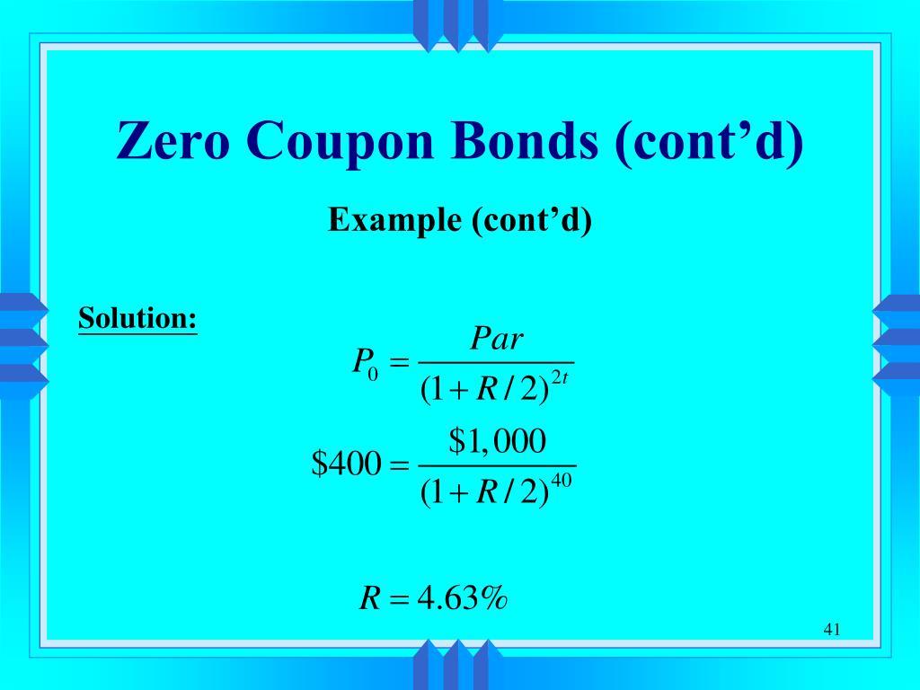 Zero Coupon Bonds PPT - Chapter 1...
