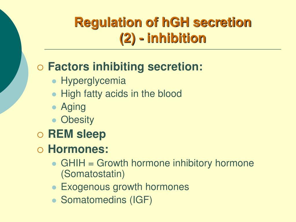 Regulation of hGH secretion