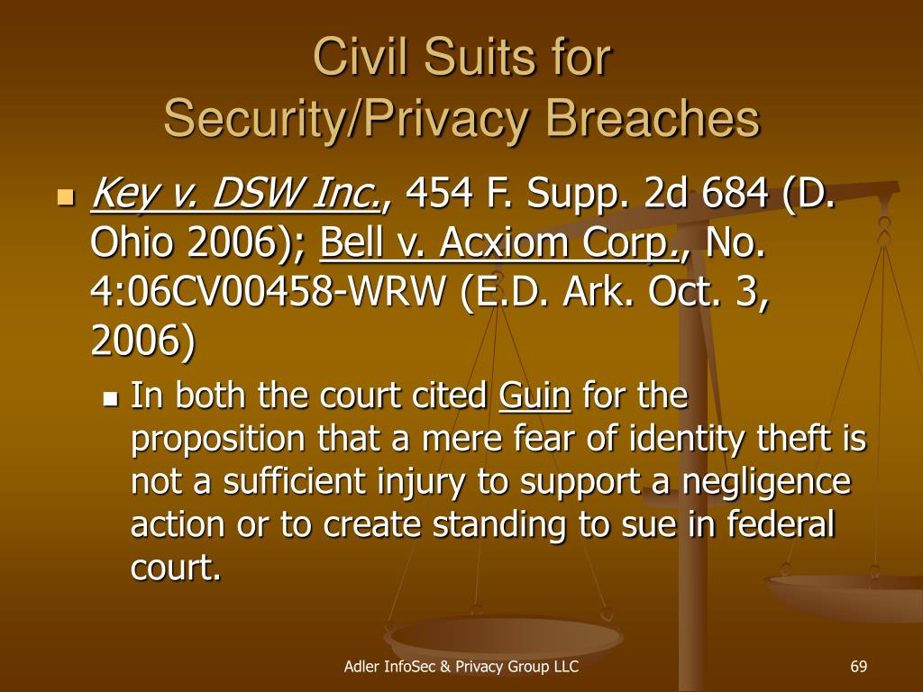 Civil Suits for