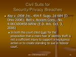 civil suits for security privacy breaches69