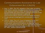 communications assistance for law enforcement act calea