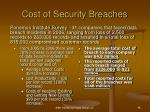 cost of security breaches