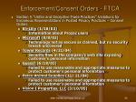 enforcement consent orders ftca