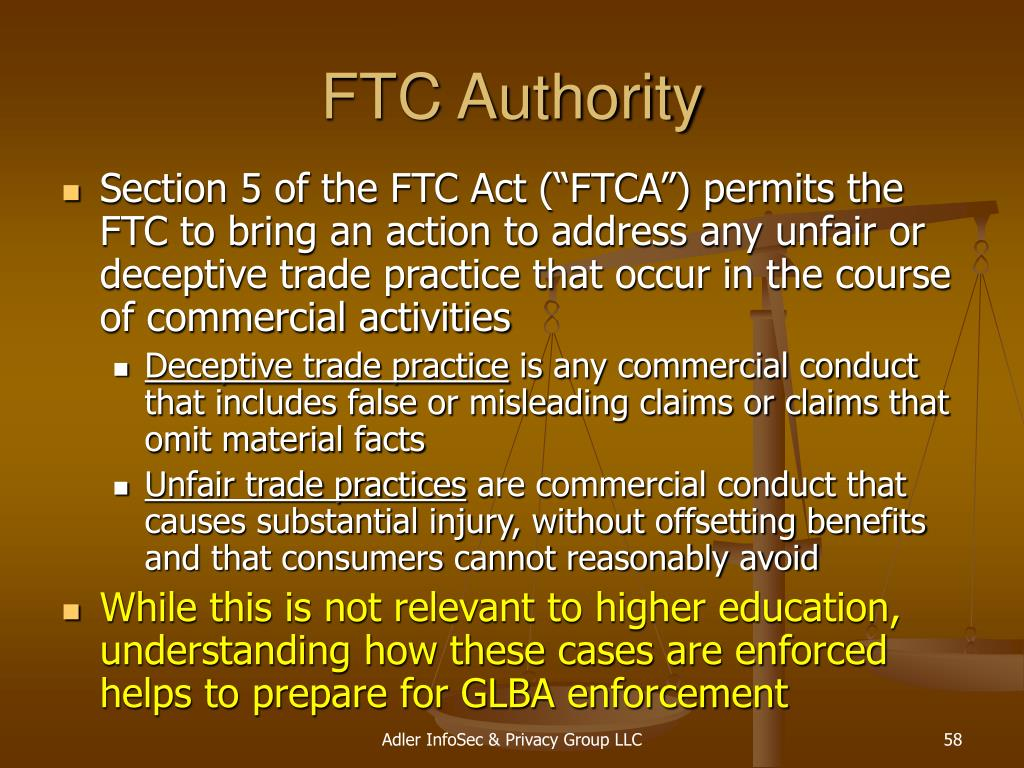 FTC Authority