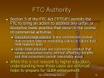 ftc authority