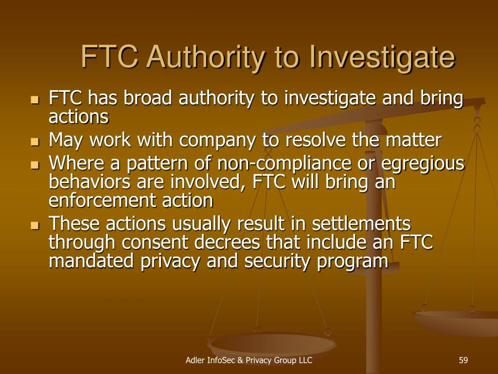 FTC Authority to Investigate