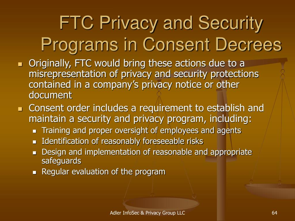 FTC Privacy and Security Programs in Consent Decrees