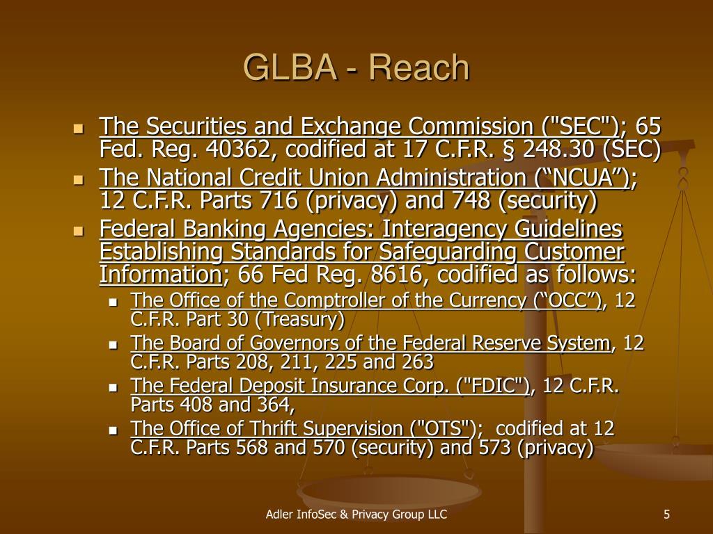 GLBA - Reach