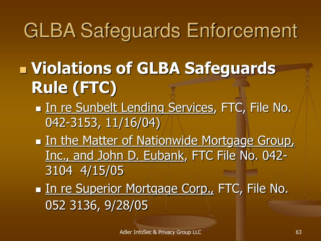 GLBA Safeguards Enforcement