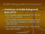 glba safeguards enforcement