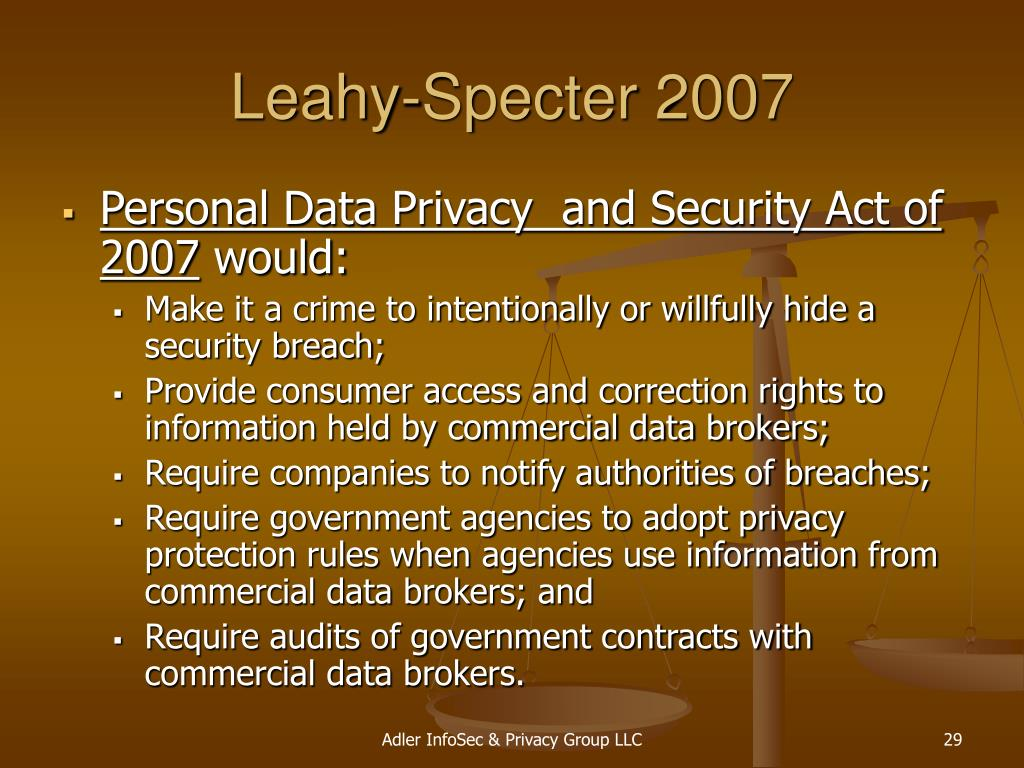 Leahy-Specter 2007