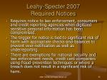 leahy specter 2007 required notices