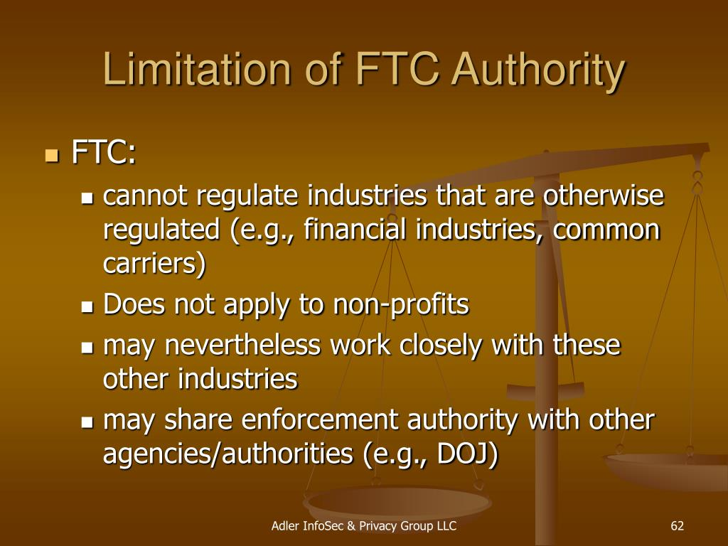 Limitation of FTC Authority