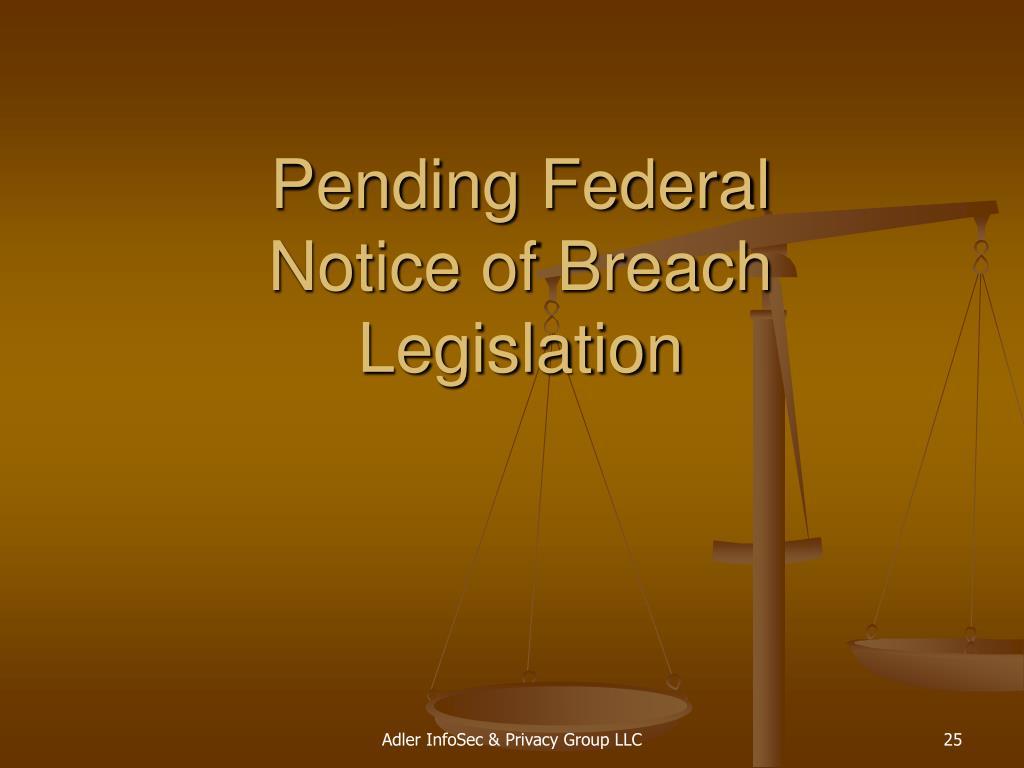 Pending Federal
