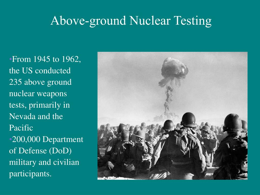 Above-ground Nuclear Testing