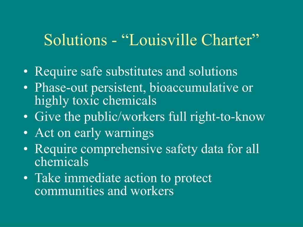 "Solutions - ""Louisville Charter"""