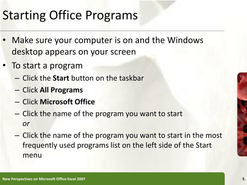 Starting Office Programs