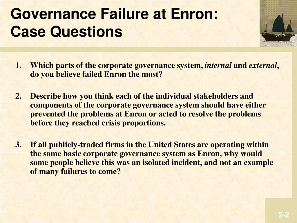 describe how enron could have been Could enron have been prevented as risk managers we deal with problems that run the gamut from access control to the complex mathematics of financial risk management, and, inevitably, someone had to ask us whether the collapse of enron could have been prevented.
