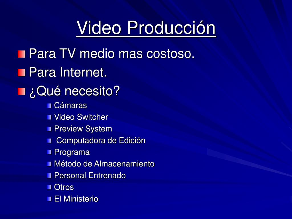 Video Producción