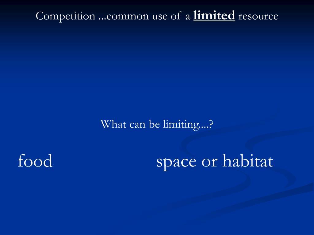 space or habitat
