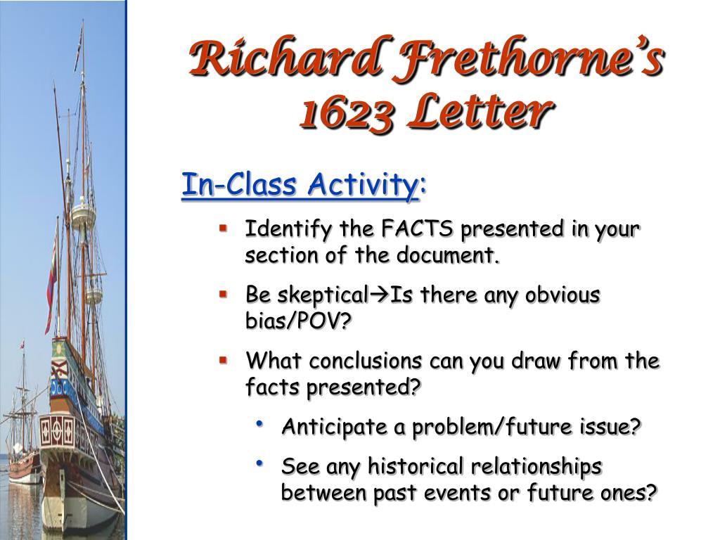 Richard Frethorne's