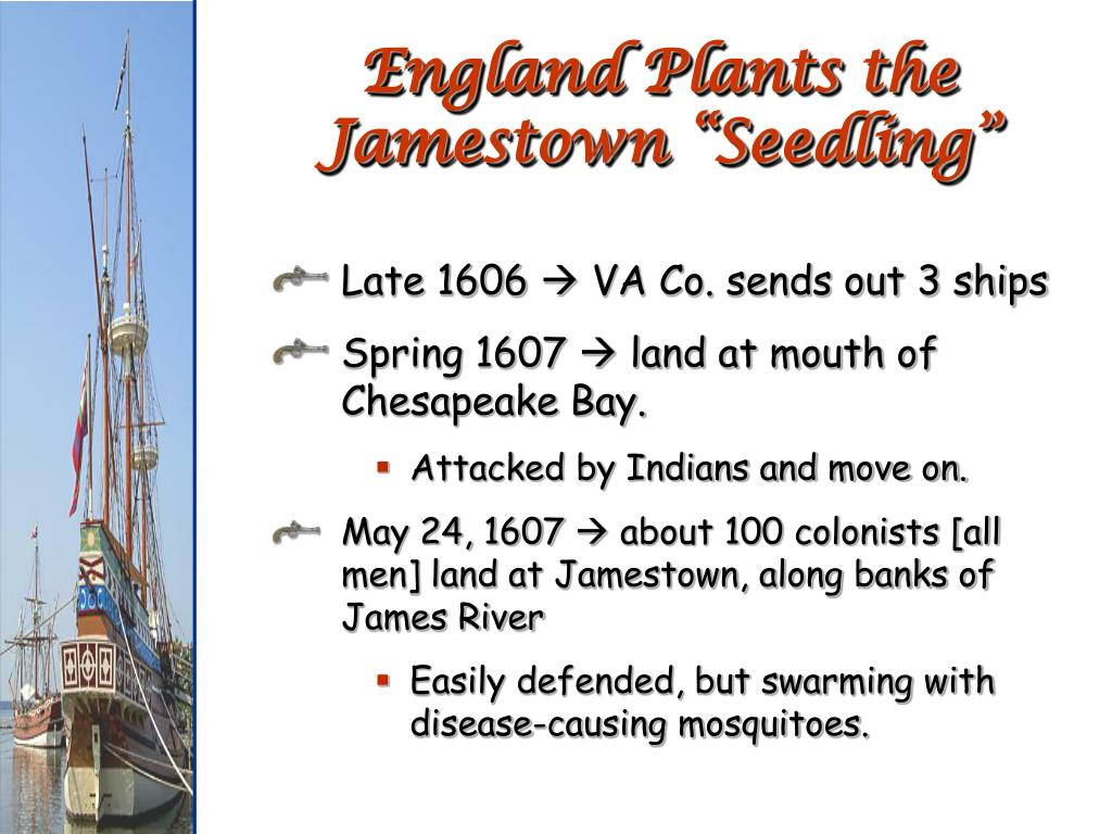 "England Plants the Jamestown ""Seedling"""