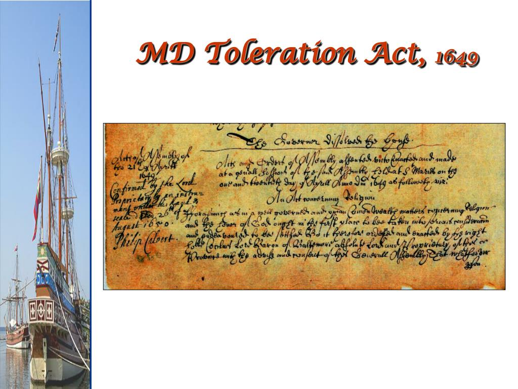 MD Toleration Act,